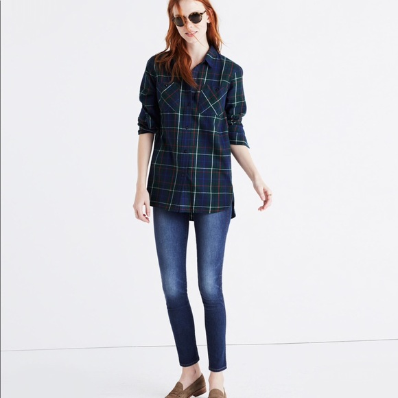 4dab2d9aaa1 Madewell Tops - Madewell flannel ex-boyfriend shirt ontario plaid